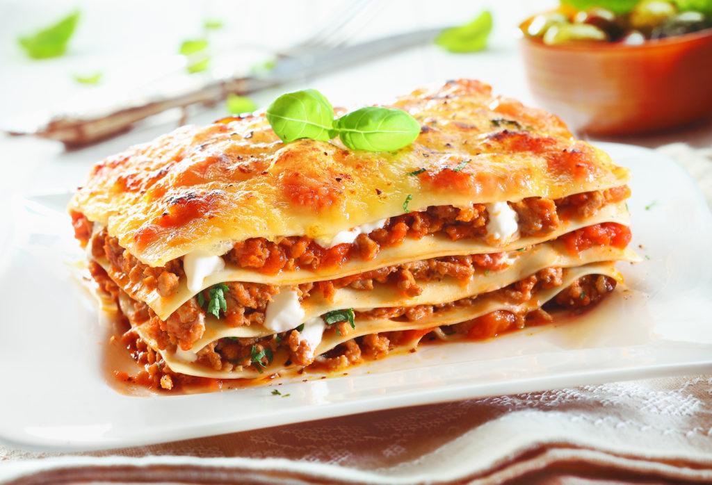 Lasagne är en bra måltidslösning.